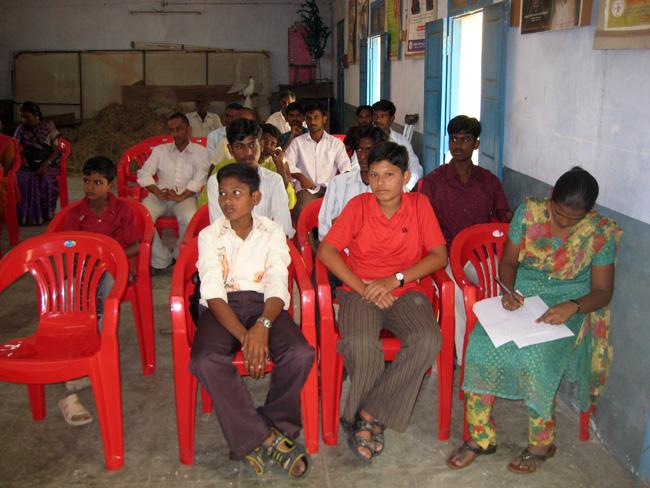 Vellore - meeting con gli studenti di Vellore - Meeting con gli studenti di Padre Kuriakose