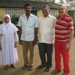 Vellore - Padre Karikat (terzo da sinistra)